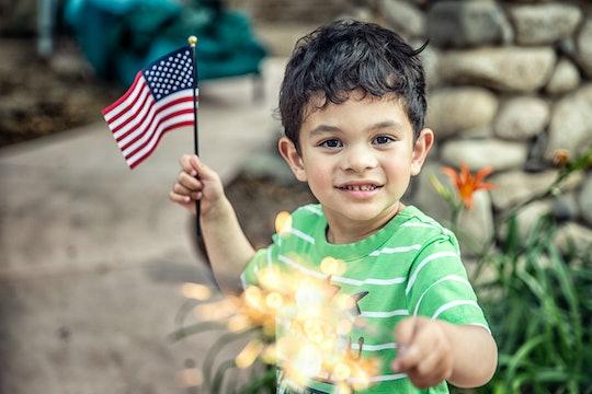 little boy with sparkler