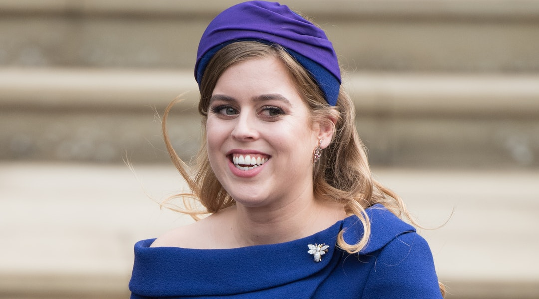 Princess Beatrice's wedding hairstyle was a casual half-up look