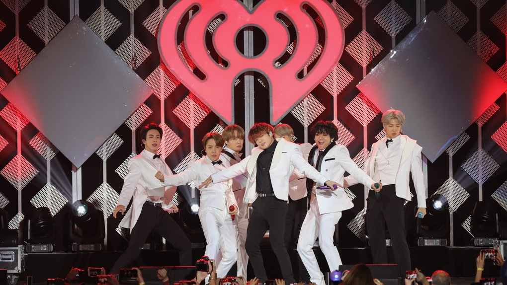BTS performs for IHeartRadio.