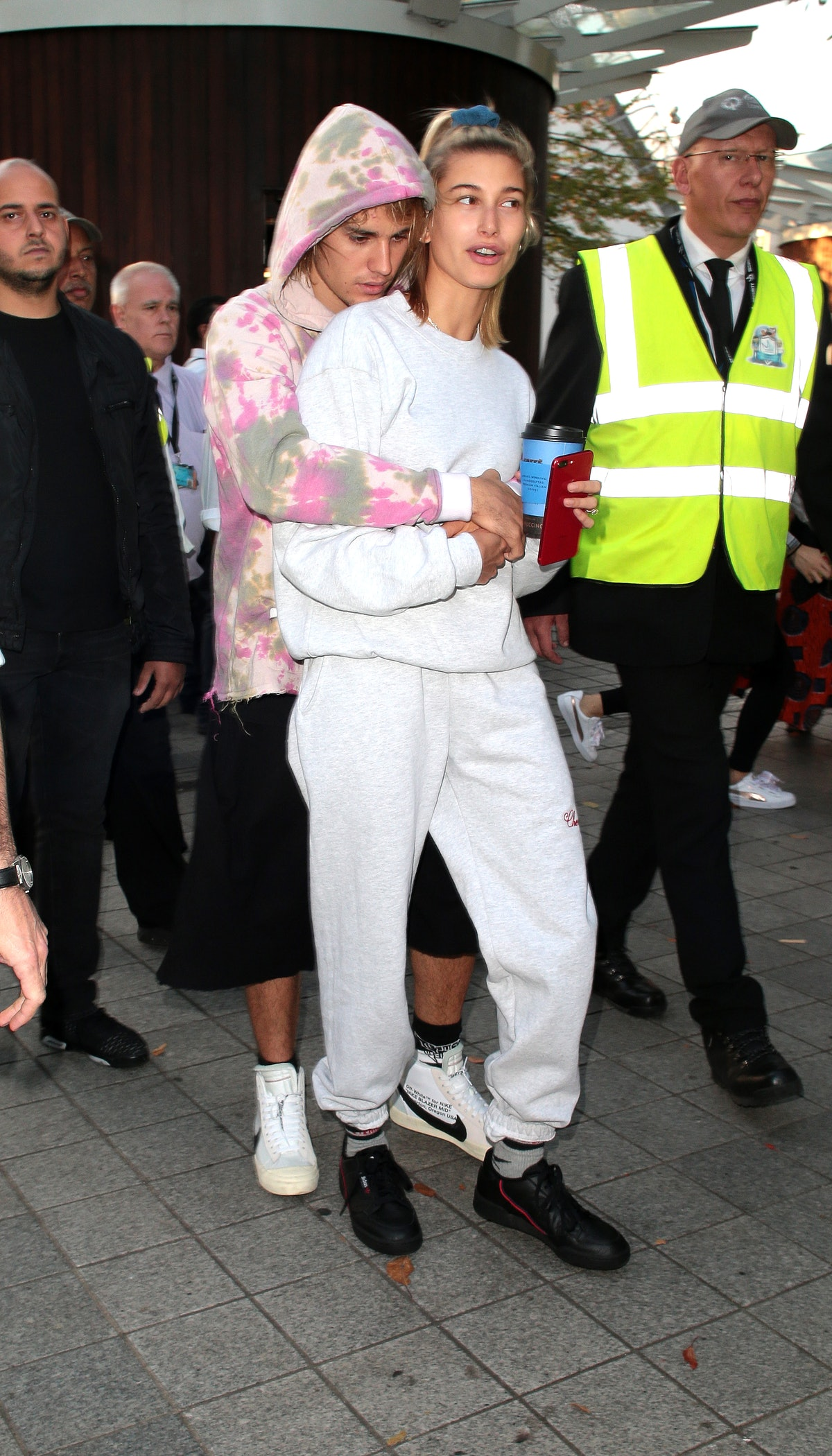 Justin Bieber and Hailey Bieber in London in 2018.