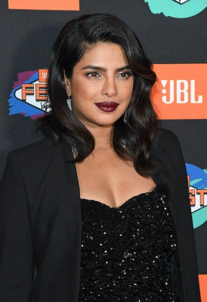 Priyanka Chopra wears one of fall's best lipstick colors maroon