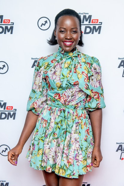 Lupita Nyong'o wears one of fall's best lipstick colors berry