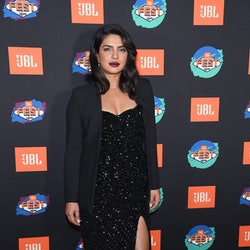 Priyanka Chopra wears one of falls best lipstick colors maroon