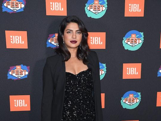Priyanka Chopra wears one of falls best lipstick colors maroon