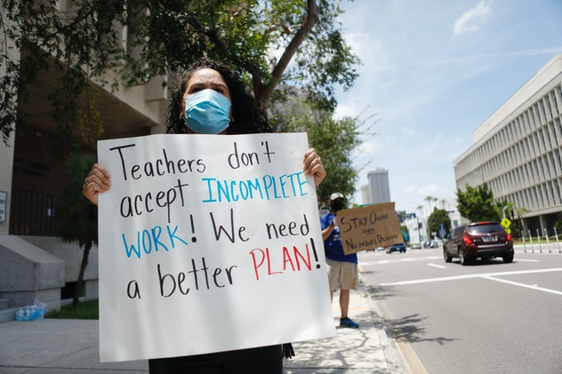 Teachers in Florida are asking for a better plan for reopening.