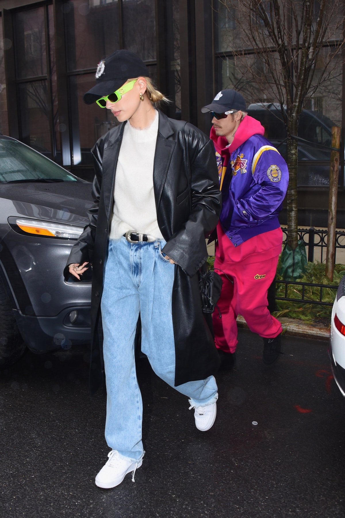 Justin Bieber and Hailey Bieber in New York City.