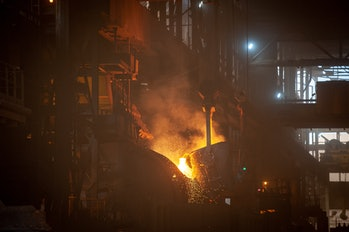 Nickel ore being processed in Indonesia in 2019.
