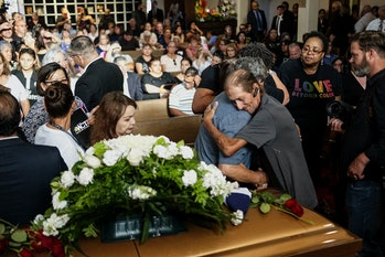 A memorial service following the El Paso shooting, a hate crime in which 23 were killed and 22 were injured.