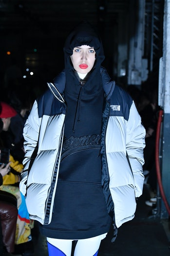 A model during a Vetements' fashion show.