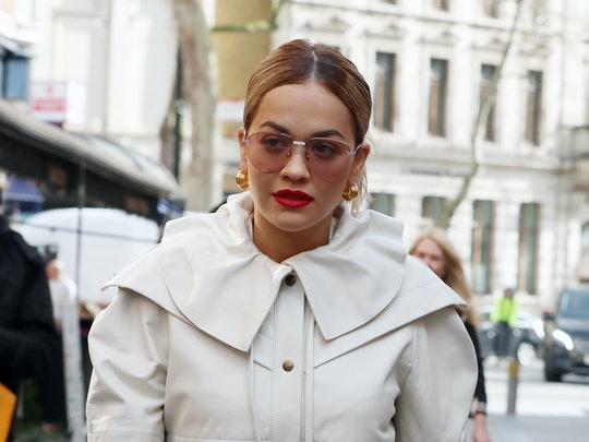 Rita Ora's new long hair is a big switch from her blonde bob.
