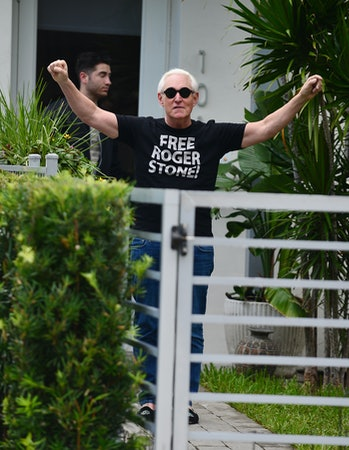 Roger Stone, a political associate of President Trump, cited a fear of coronavirus in his successful effort for a pardon.