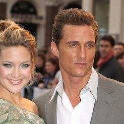 Kate Hudson and Matthew McConaughey celebrate their love fern.