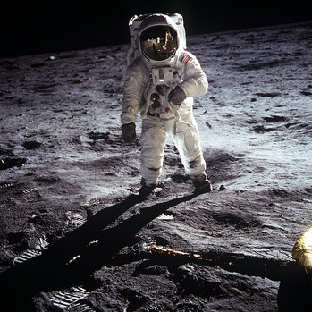 The iconic image from NASA's moon landing.