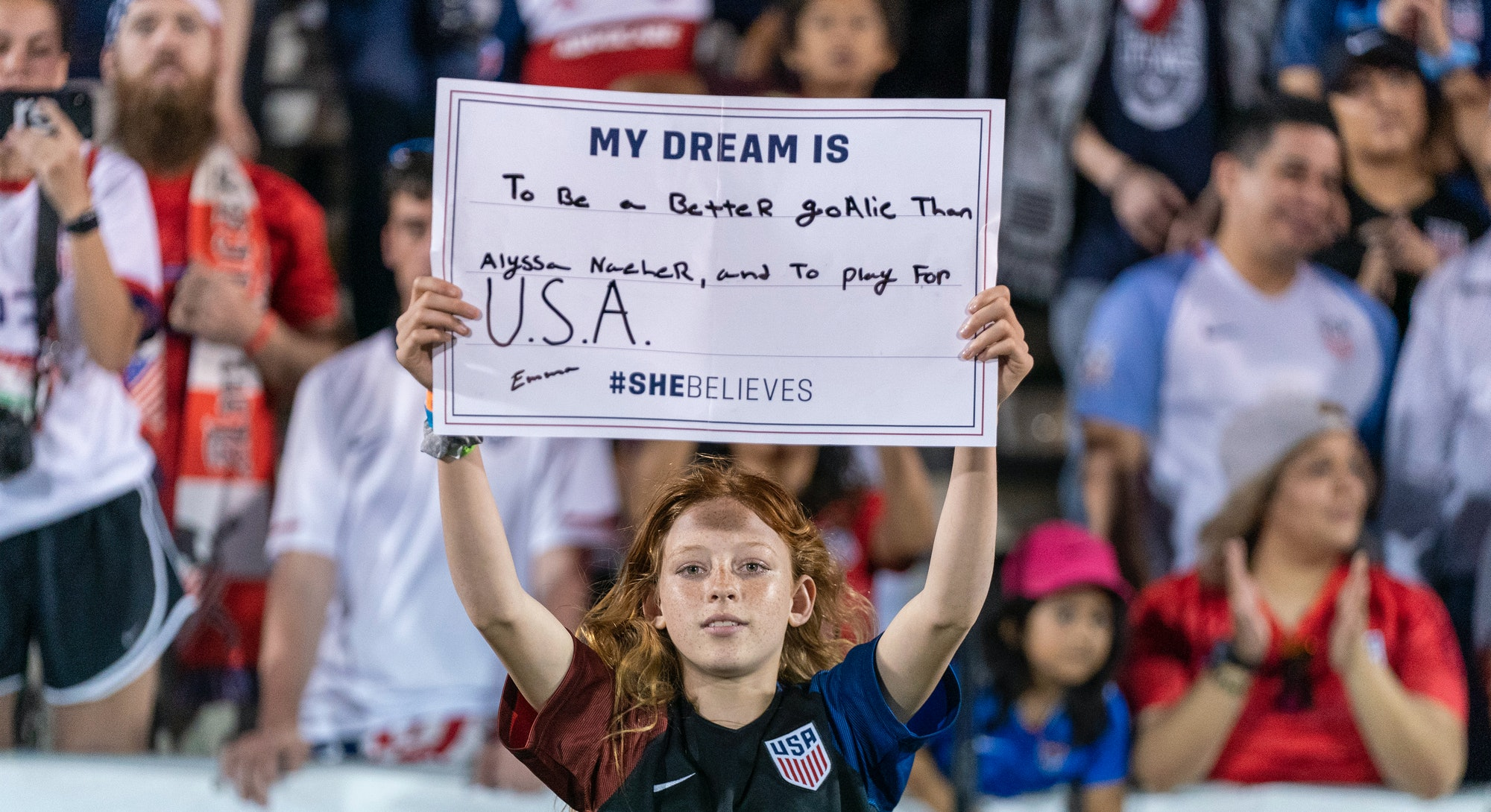 A fan of the U.S. women's national soccer team