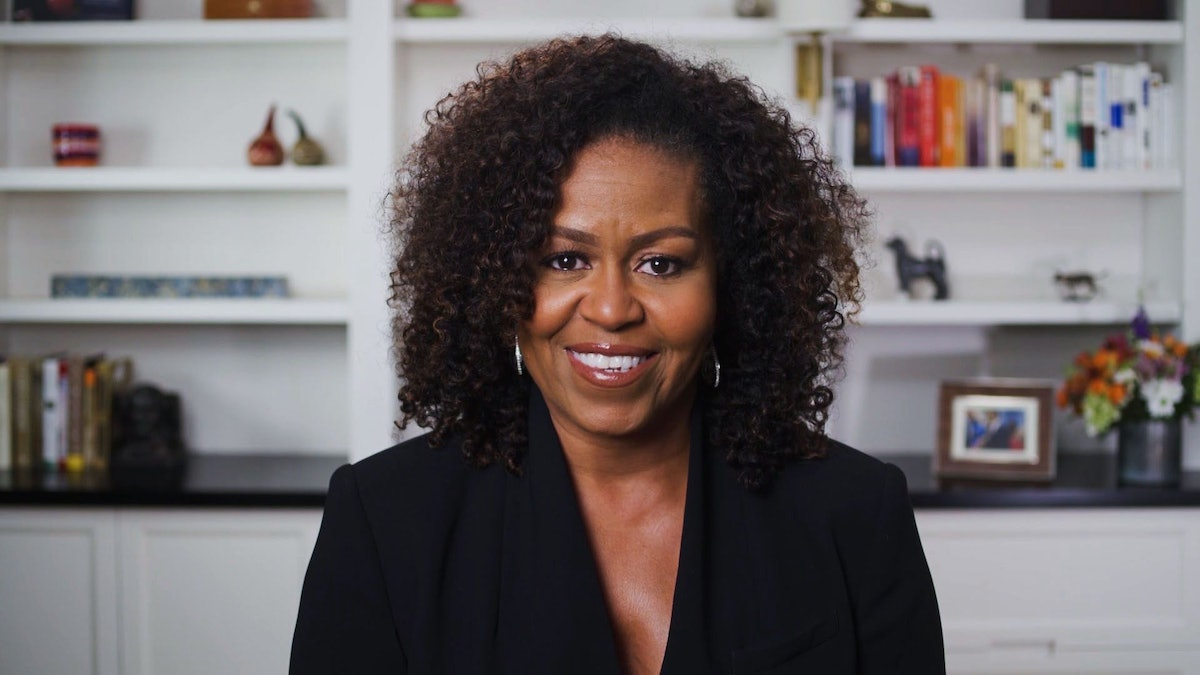 Michelle Obama plays a Mereba song at the beginning of her podcast.