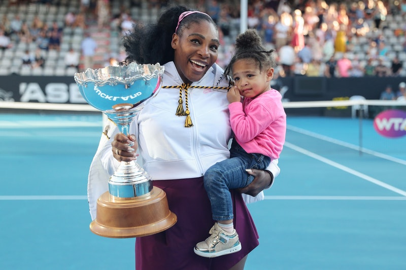See Serena Williams & Her Daughter Olympia's Adorable Matching Tennis Outfits