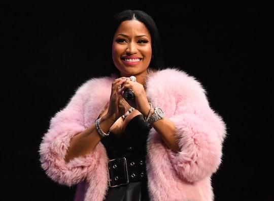 Nicki Minaj took to Instagram on Thursday where she rapped while having her pregnancy bump on full display.