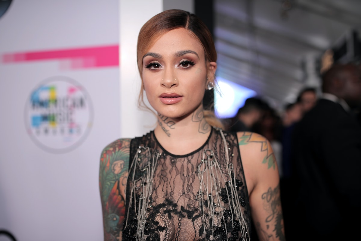 Kehlani poses on red carpet in sheer gown