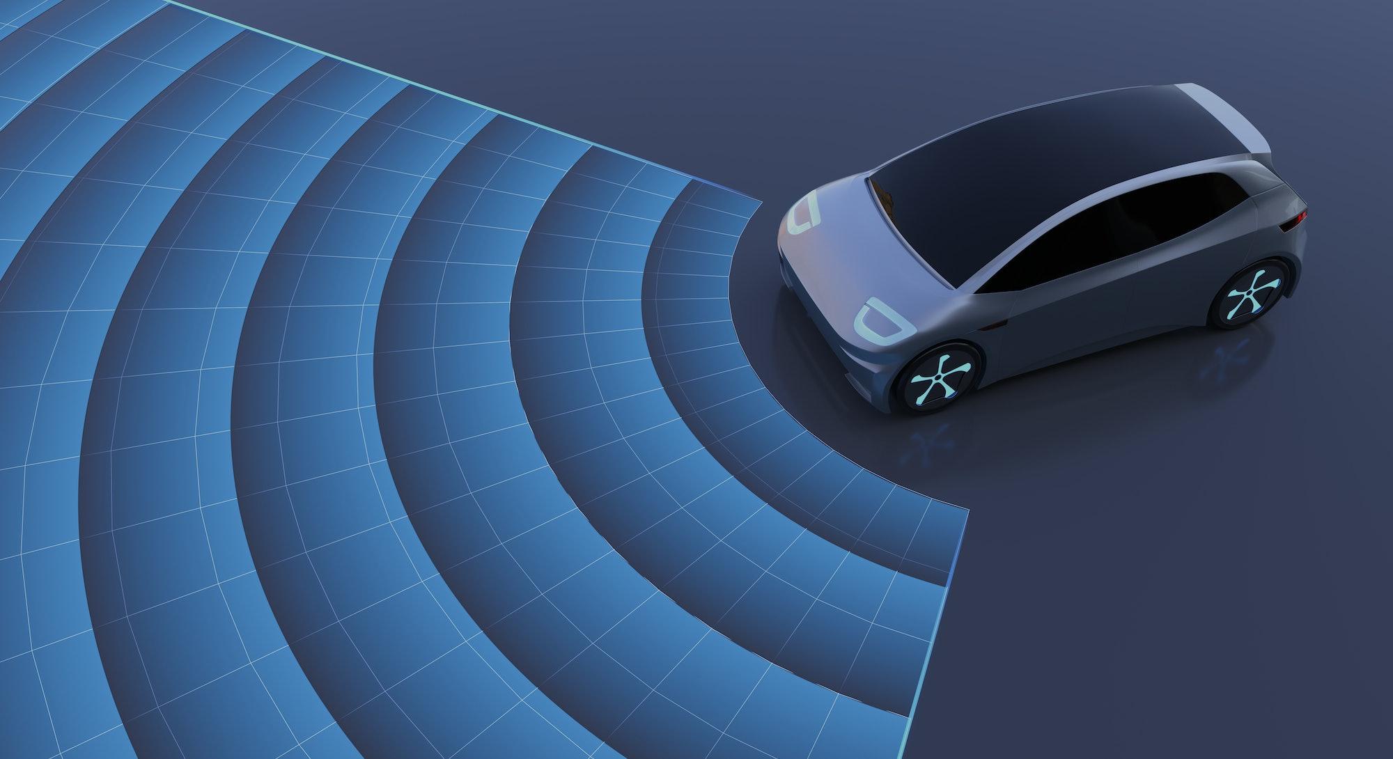 Autonomous self-driving car.