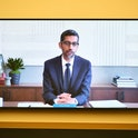Alphabet CEO Sundar Pichai speaking during a House Judiciary Committee antitrust investigation