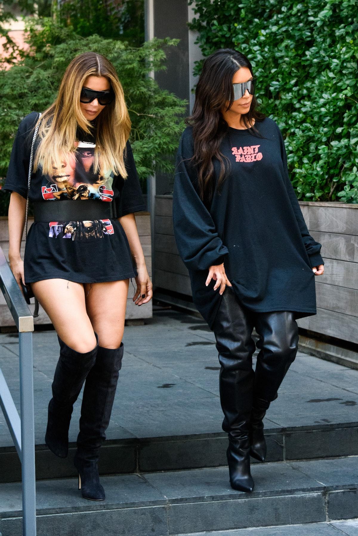 Larsa Pippen steps out with Kim Kardashian.
