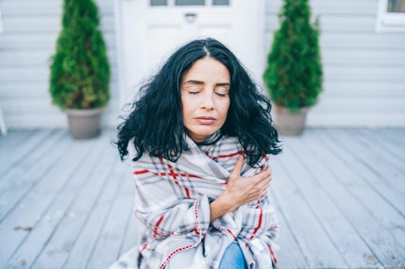 woman, anxious