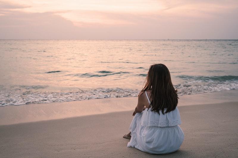 woman, ocean, wonder