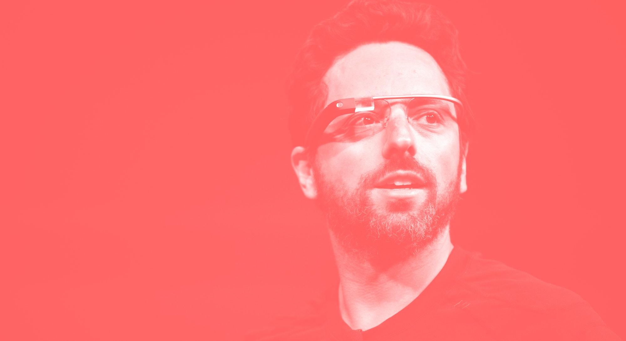 The Google Glass headset.