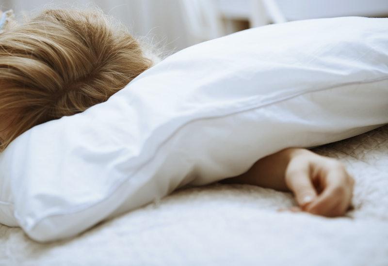 woman, sleeping