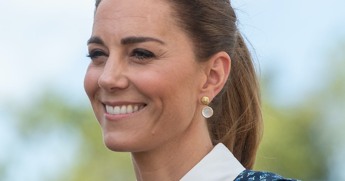 Kate Middleton's Blue Dress Is Just Like One Princess Diana Wore In 1985