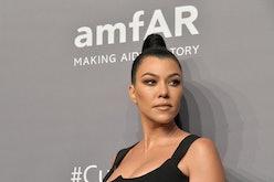 Kourtney Kardashian's metallic pink nail polish is gearing up to be the trending shade of summer