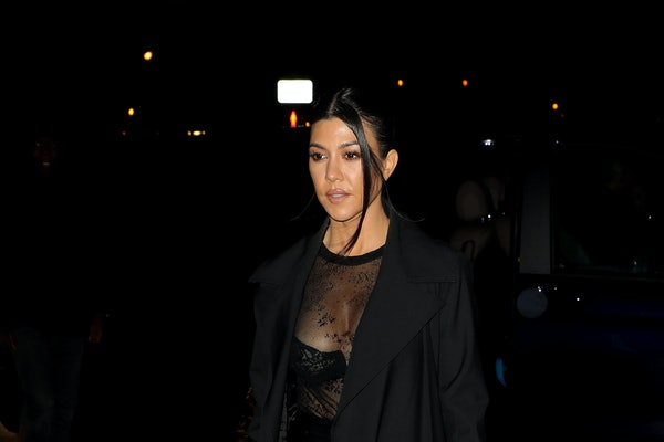 Kourtney Kardashian steps out in an all black ensemble.