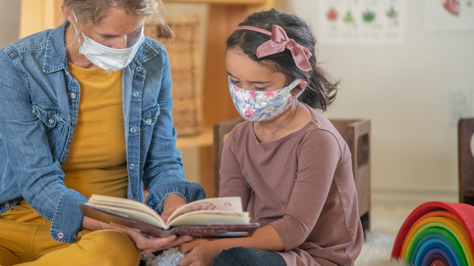 Parents and caregivers say that children are, generally, pretty resilient and unfazed by masks.