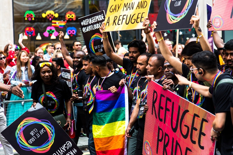 LGBT refugee pride demonstration