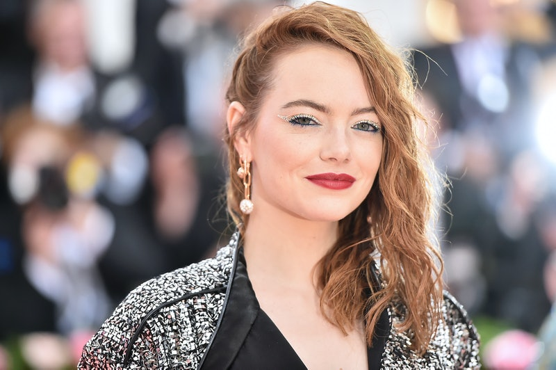 Emma Stone's orange-tinted strands are a pretty red hair color idea