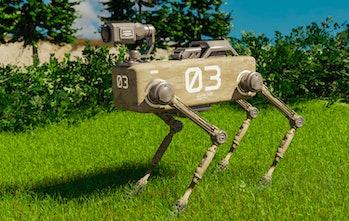 A robot dog.