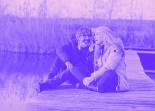 An older couple on a dock