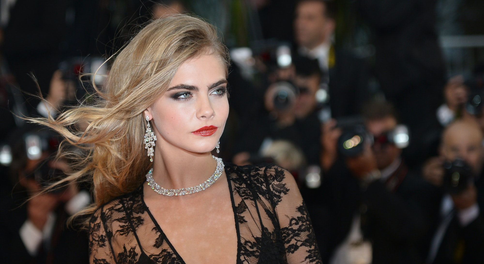 Cara Delevingne at the 2013 Cannes Film Festival.
