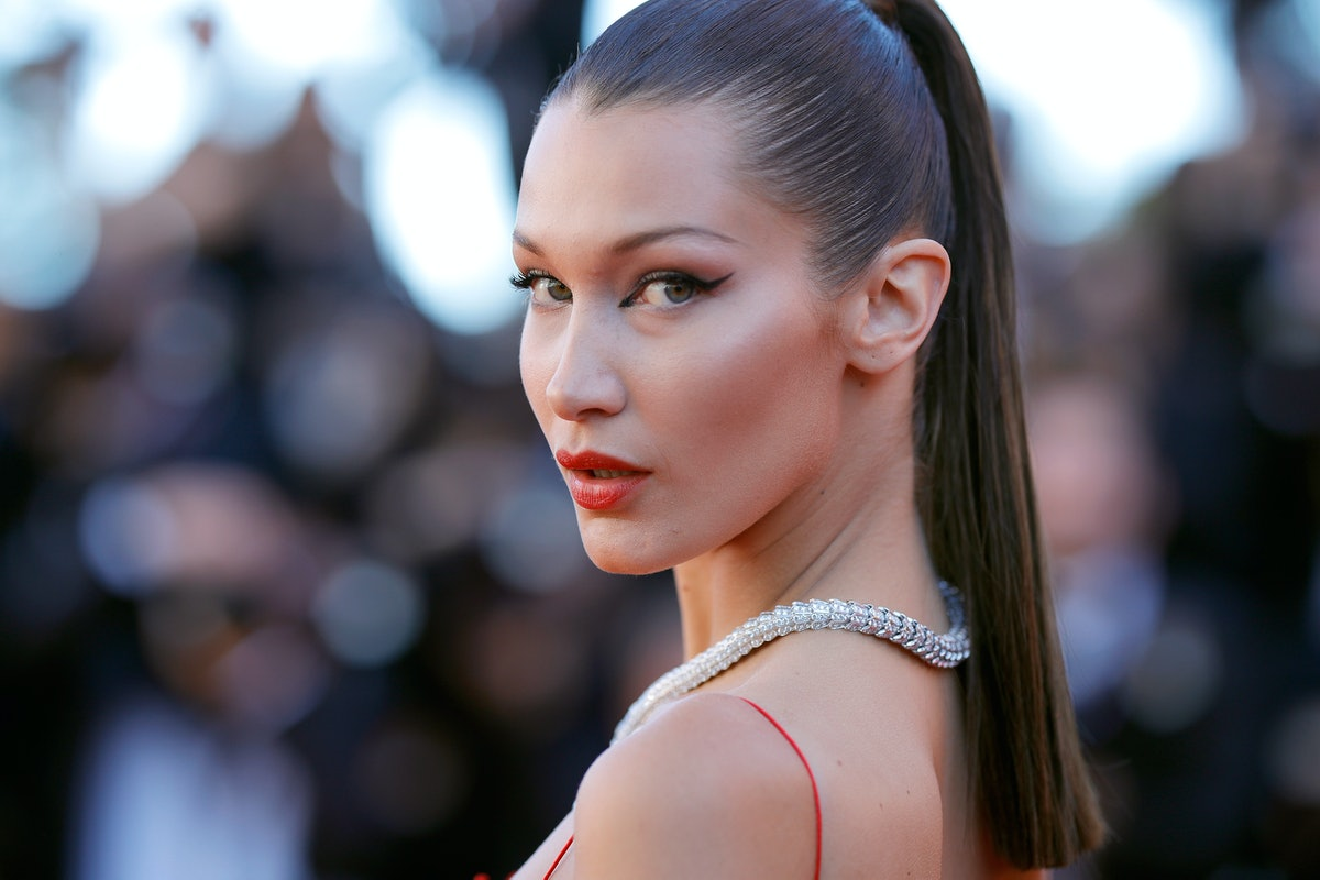 Bella Hadid poses on the red carpet