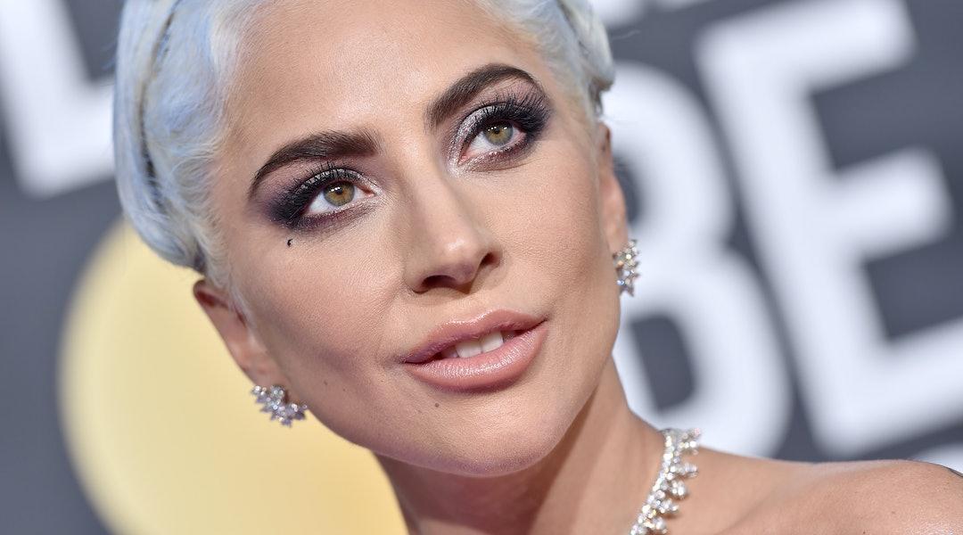 Lady Gaga's light blue hair for summer 2020.