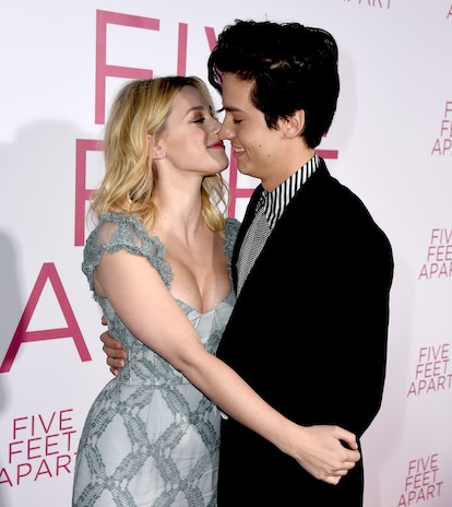 Cole Sprouse and Lili Reinhart at the 'Five Feet Apart' movie premiere
