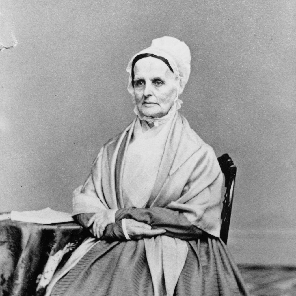 Lucretia Mott is a major part of women's suffrage history.
