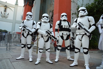 The stormtrooper design as envisioned by Ralph McQuarrie.