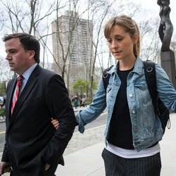 Actor Allison Mack attending court for her role in NXIVM.