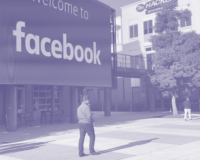 Facebook headquarters in Menlo Park, CA.