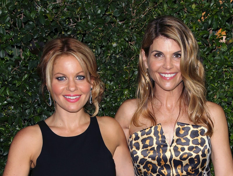 Candace Cameron Bure reacts to a comment about Lori Loughlin's prison sentence.
