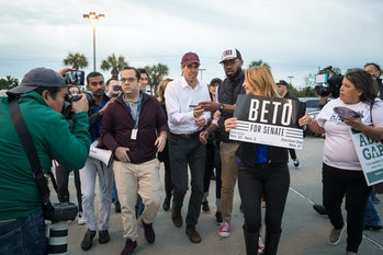 In 2018, Beto O'Rourke encouraged voters to vote early, not necessarily by mail.