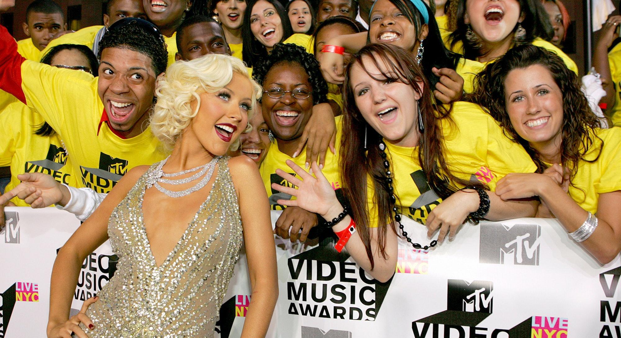Christina Aguilera at the 2006 VMAs.