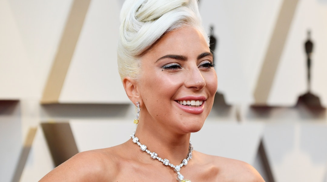Lady Gaga's blue eyeshadow is the newest beauty look from the star featuring plenty of color.