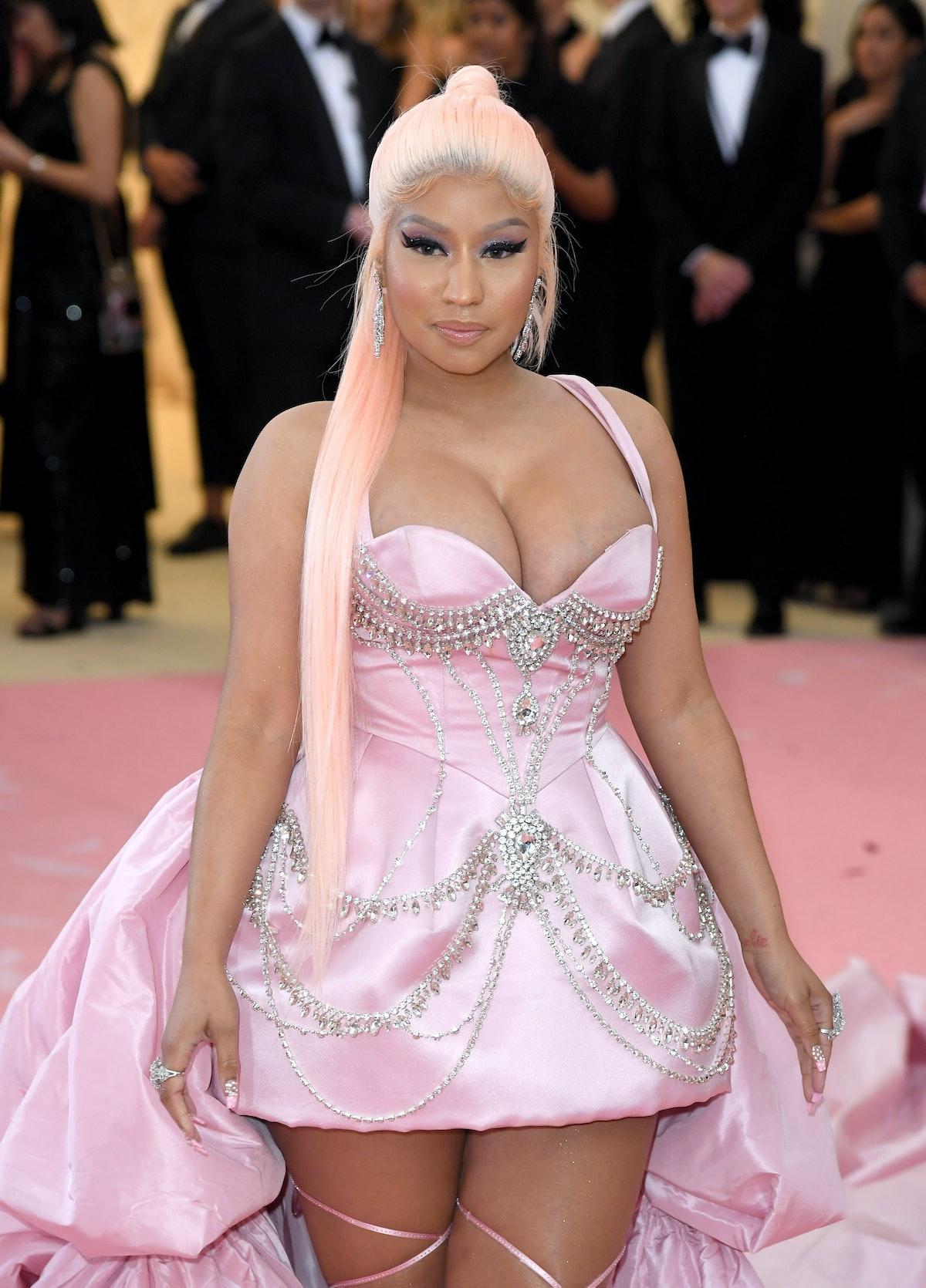 Nicki Minaj attends the Met Gala.